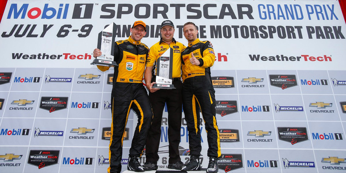 Stephen Simpson JDC Take 2nd place in prototype Class during Mobil1 Sportscar Grand Prix form Canadian Tire Motorsport Park